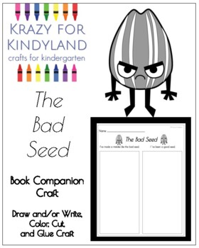 The Bad Seed Book Companion Craft for Kinderagarten by