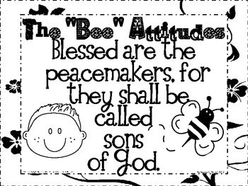 The Beatitudes NKJV (Song, Posters, Coloring Sheets, and