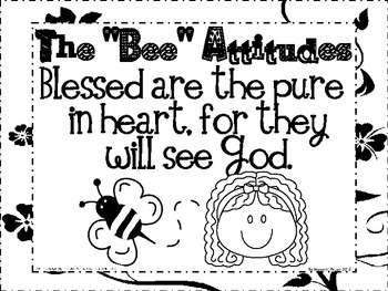 The Beatitudes (Song, Posters, Coloring Sheets, and