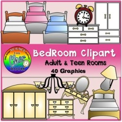 Bedroom Clipart My Home Series I by The Cher Room TpT