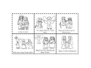 The Christmas Story Sequencing Activity by Grace and