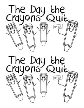 The Day the Crayons Quit Literacy Center Book by Kearson's