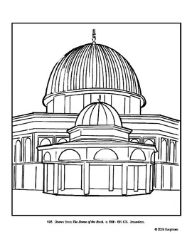 The Dome of the Rock. Coloring page and lesson plan ideas