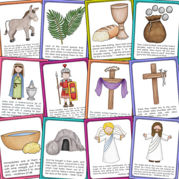 THE EASTER STORY Posters and Coloring Pages Set, Sunday