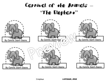 Elephant, The from Carnival of the Animals (Finger Puppets
