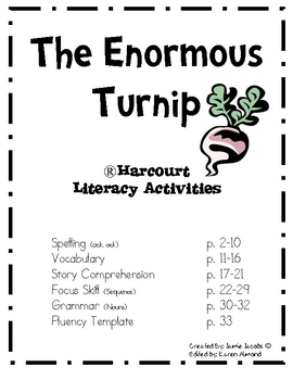The Enormous Turnip (Supplemental Materials) by Jacobs