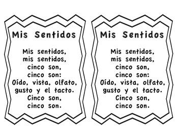The Five Senses Spanish Song-Cancion de los cinco sentidos