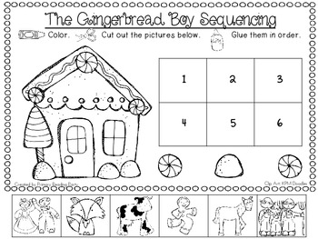 gingerbread man sequencing pictures