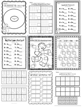 The Gingerbread Man Mini Unit Printables (Perfect for Sub