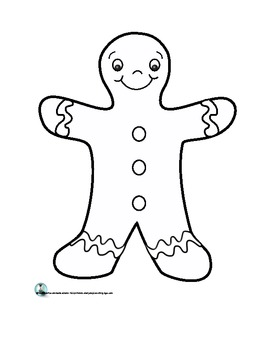 The Gingerbread Man Shape Book and Template by Brenda
