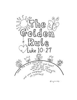The Golden Rule Activity Booklet Luke 10:27 by Ingrid's