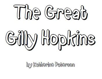 The Great Gilly Hopkins Lit Group Packet by Just Your