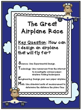 The Great Paper Airplane Race STEM Activity by Tammy