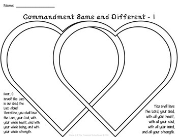 The Greatest Commandment Worksheets and Activities Based