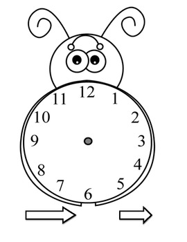 The Grouchy Ladybug Time Math Centers/Activities by