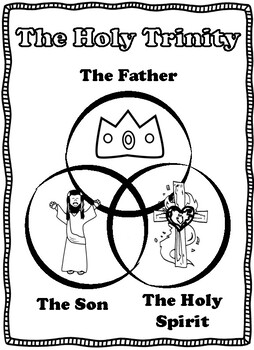 The Holy Trinity Coloring Pages and Colored Mini Poster