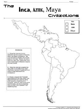 Inca, Aztec, and Maya Civilizations! A Webquest Over