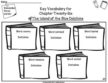 Island of the Blue Dolphins Novel Study-Comprehension