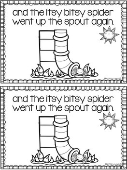 The Itsy Bitsy Spider Emergent Reader by Tickled Pink in