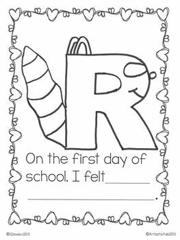 The Kissing Hand (A First Day Writing Activity with