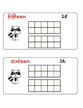 The Kissing Hand Ten Frame (numbers 1-20) by Excited about
