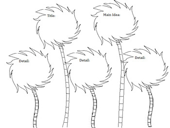 The Lorax Comprehension Truffula Trees by Owl About First