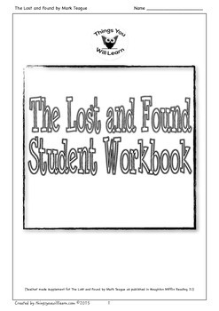 The Lost and Found Student Workbook by Things You Will