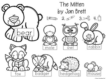 The Mitten Retelling Printables (Book Activity) by Texas