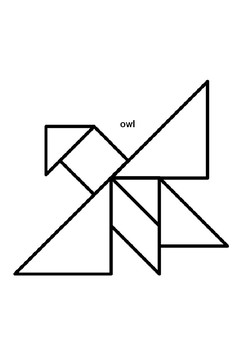 The Mitten Story Characters in Tangram by 321 English is