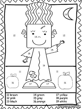 The Monsters Color By Number (Teen Numbers) by Wild about