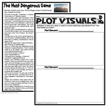 The Most Dangerous Game Activities Plot Elements Worksheet