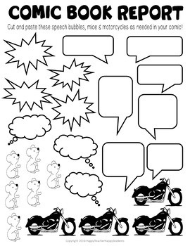The Mouse and the Motorcycle Project: Design a Comic Strip