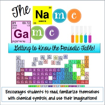 The Name Game Getting To Know Periodic Table