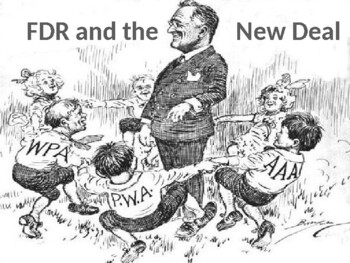 New Deal and FDR PowerPoint by Steven's Social Studies