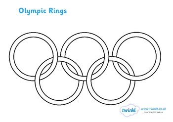 The Olympic Rings Colouring Sheet by Twinkl Printable