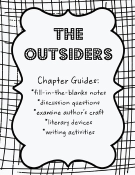 The Outsiders Chapter 1-12 Guide Bundle by Aimee