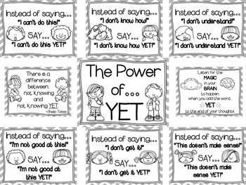The Power of YET (Growth Mindset) Posters--Graphic