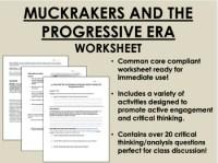 Progressive Era Worksheets - Rcnschool