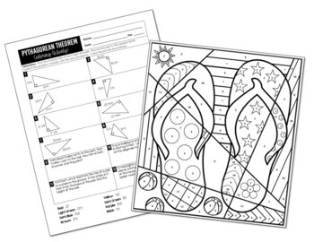 Pythagorean Theorem Coloring Activity by All Things