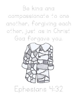 The Rag Coat Bible Verse Printable (Ephesians 4:32) by