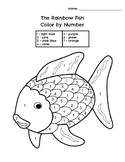 Color By Number Rainbow Fish Worksheets & Teaching