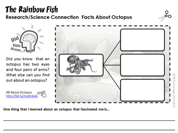 The Rainbow Fish Interactive Notebook Reading Lessons