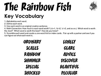 The Rainbow Fish Lessons & Activity Bundle FREE Sample