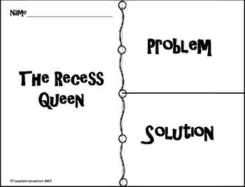 The Recess Queen Task Cards & Literacy Activities by Texas