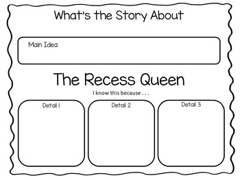 The Recess Queen ~ by Alexis O'Neill 41 pgs of Common Core