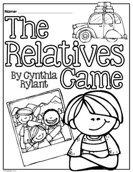 The Relatives Came by Cynthia Rylant: Reading Response