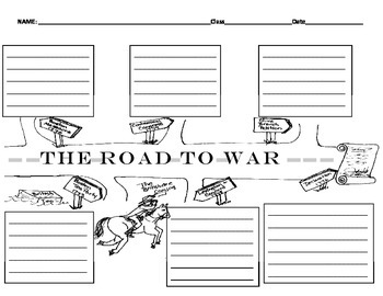 The Road to the Revoutionary War Graphic Organizer by