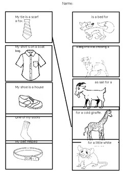 The Smartest Giant in Town Matching worksheet by