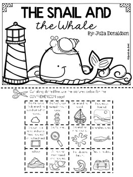 The Snail and The Whale Literature Lap Book by Speech Is