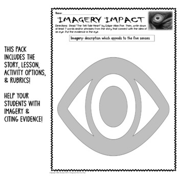 The Tell-Tale Heart Imagery Activity Graphic Organizer w